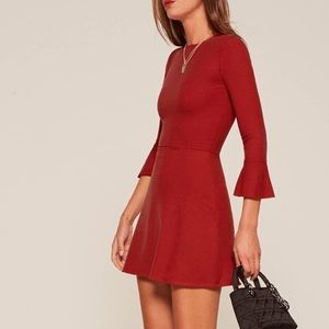 Reformation Red Anise Dress S Sold Out